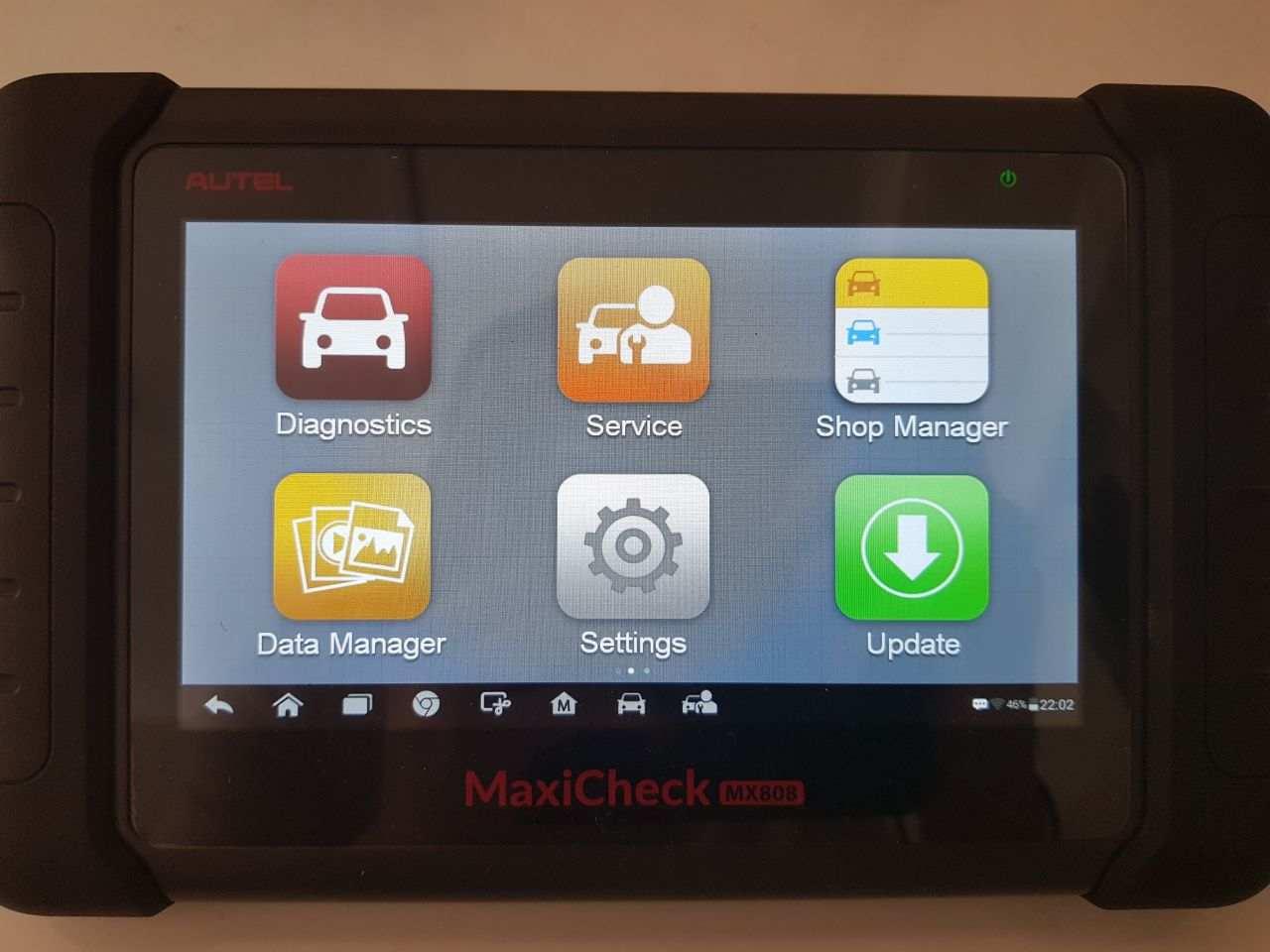 Autel MX808 main screen